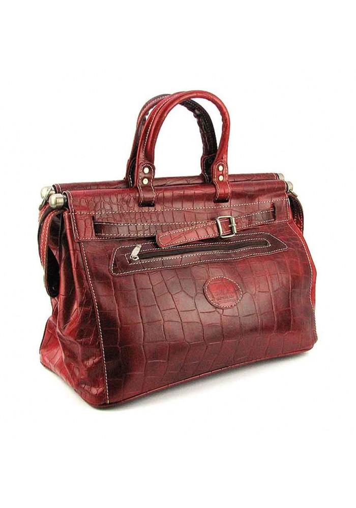 Бордовая дорожная сумка Desisan 607