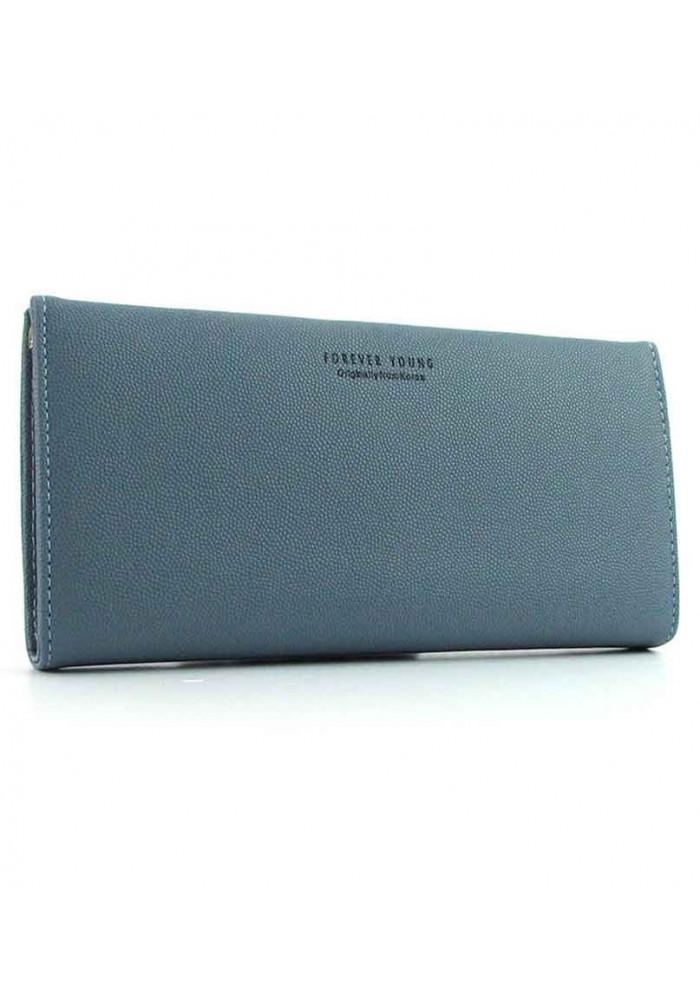 Бледно-синий женский кошелек Young 6708