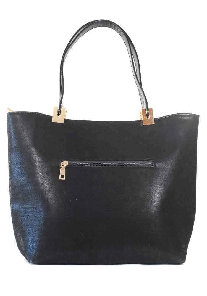 9c4c0ddbd220 Черная велюровая женская сумка шопер, фото №3 - интернет магазин  stunner.com.