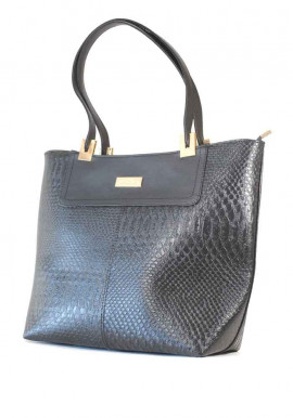 Фото Черная женская сумка шопер дракон 38N-DRAG-ARN