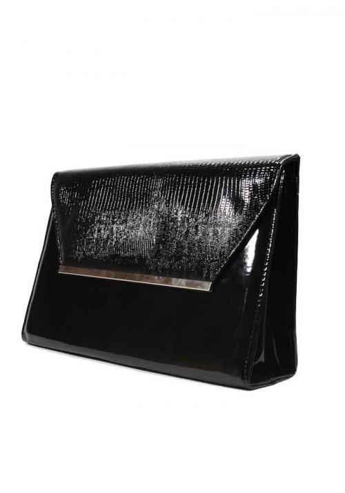 Черный женский клатч-конверт