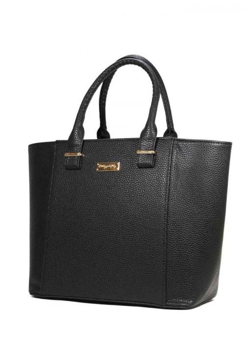 Женская черная матовая сумка тоут