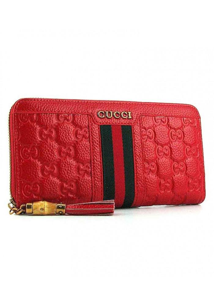 Красный женский кошелек на молнии 8015