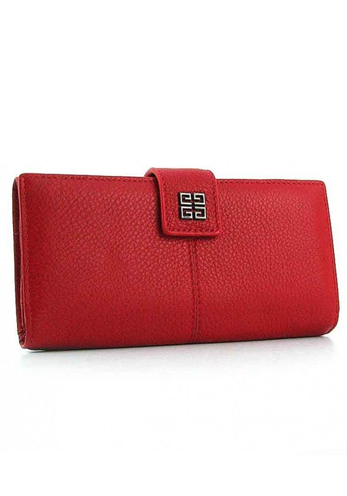 Красный женский кожаный кошелек 6287