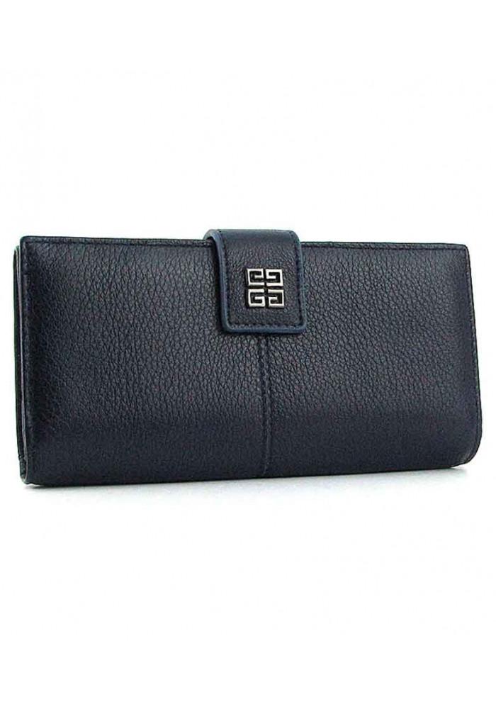Синий женский кожаный кошелек 6287