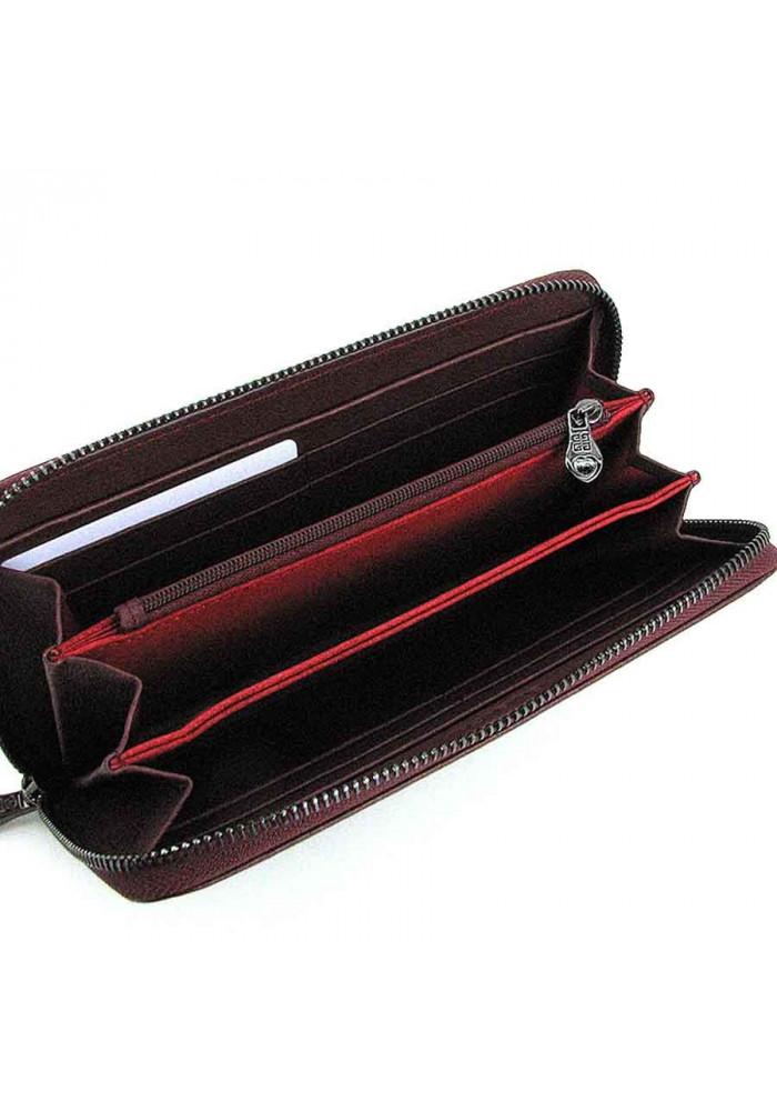 b7f62fcedff2 Бордовый кожаный женский кошелек на молнии 6288, фото №3 - интернет магазин  stunner.