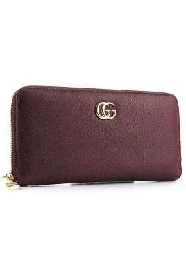 Фото Бордовый кожаный женский кошелек 6020
