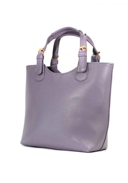 Сумка женская шопер фиолетовая