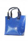 Сумка женская синий лаковый шопер 48-1315