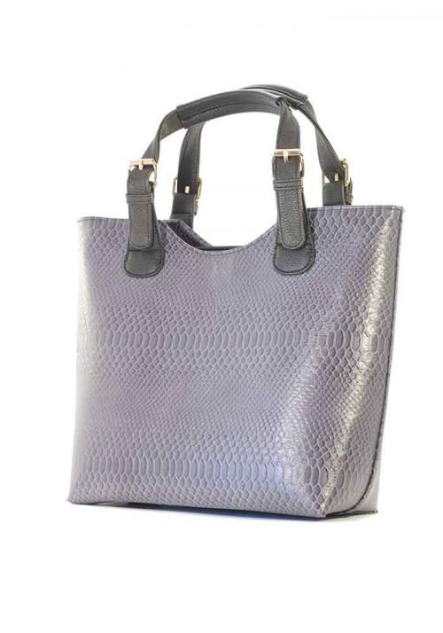 Серая женская сумка шопер - Фото женской сумки
