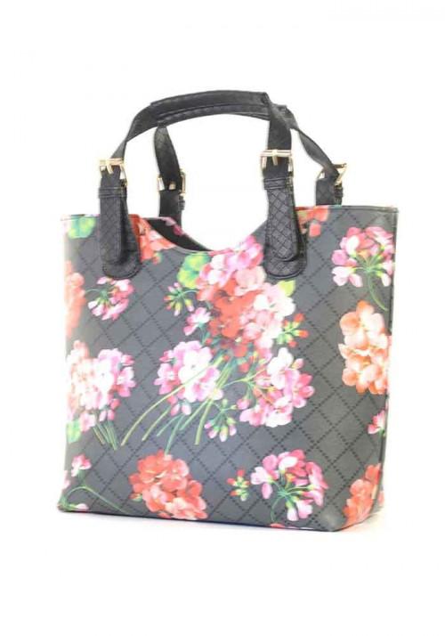 Сумка шопер женская с цветами
