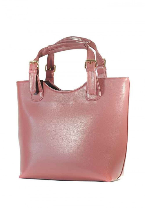 Красивая женская сумка шопер цвета пыльная роза