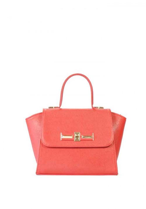 Красная маленькая женская сумка-клатч