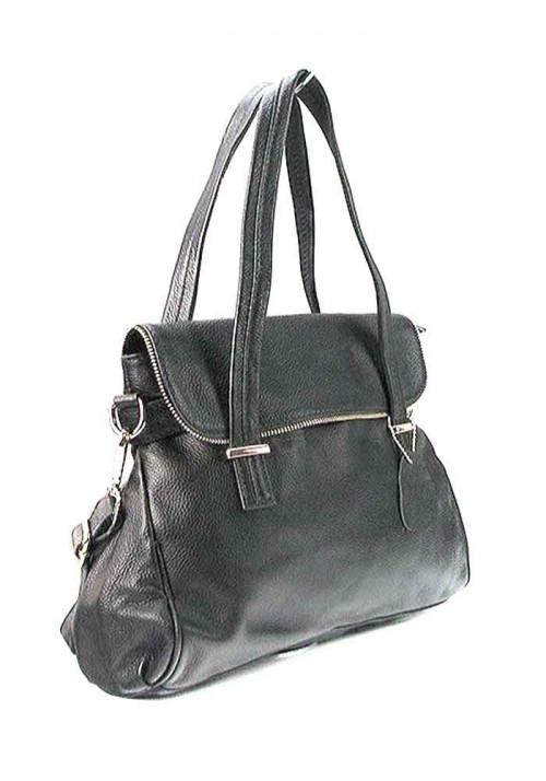 Женская кожаная сумка 6005 черная