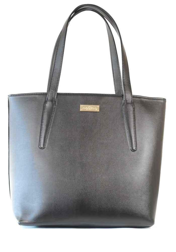 Черная женская сумка с длинными ручками 61-ARN