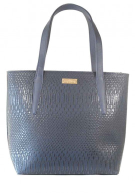 Фото Синяя женская сумка с длинными ручками 61-DRACON-BLUE