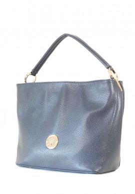 Мягкая синяя матовая женская сумка 62-BLUE
