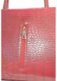 Красная матовая женская сумка с молнией - Фото сумочки, фото №5 - интернет магазин stunner.com.ua