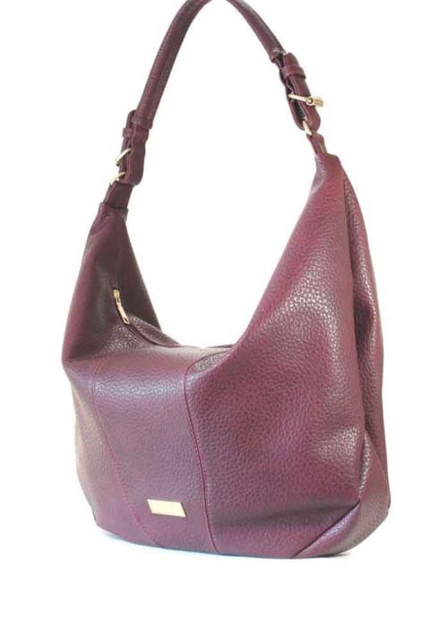 """Бордовая матовая женская сумка """"мешок"""""""