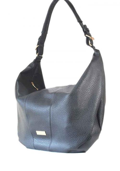 """Черная матовая женская сумка """"мешок"""""""