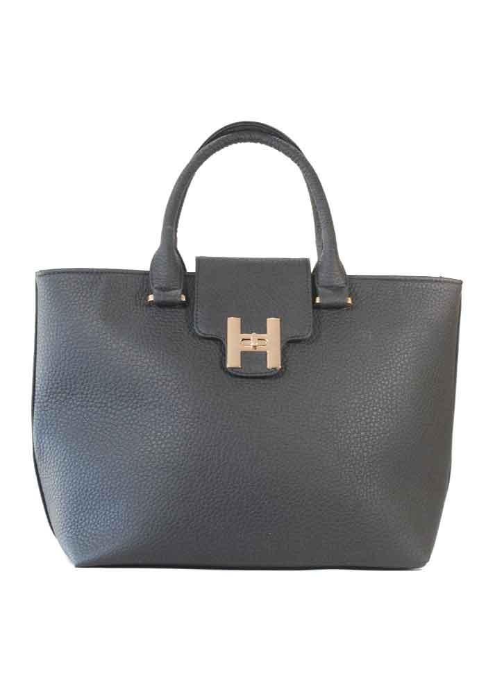 Черная матовая женская сумка 64-P001