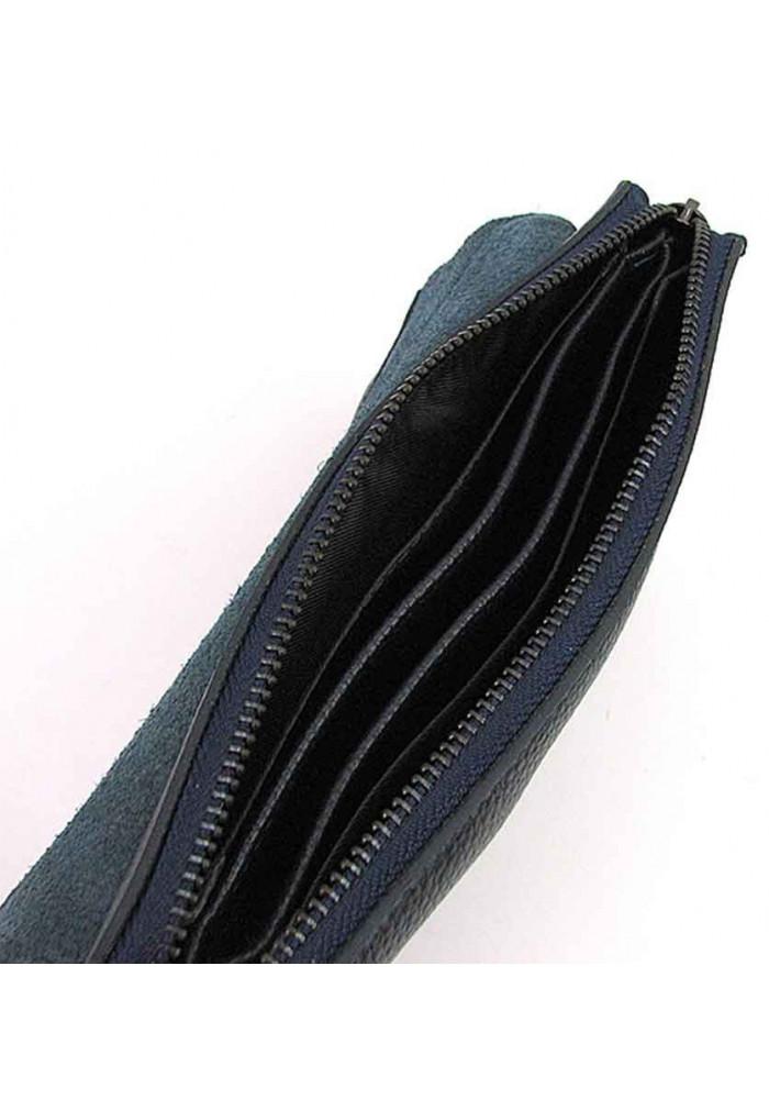 76c2a113a853 ... Кожаный мужской клатч на плечо 3410-2 синий, фото №6 - интернет магазин