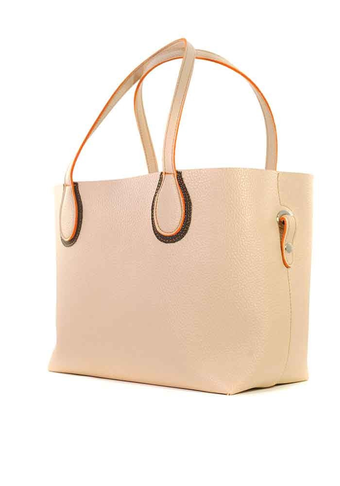 Пудровая женская сумка шопер Berry Pretty 69-PUDRA