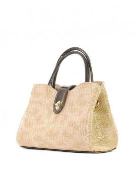 Фото Комбинированная лаковая женская сумка Betty Pretty