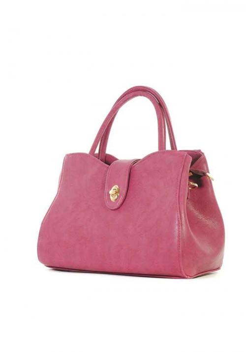 Бордовая женская сумка среднего размера