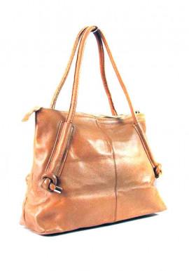 Фото Светло-коричневая женская кожаная сумка 8003