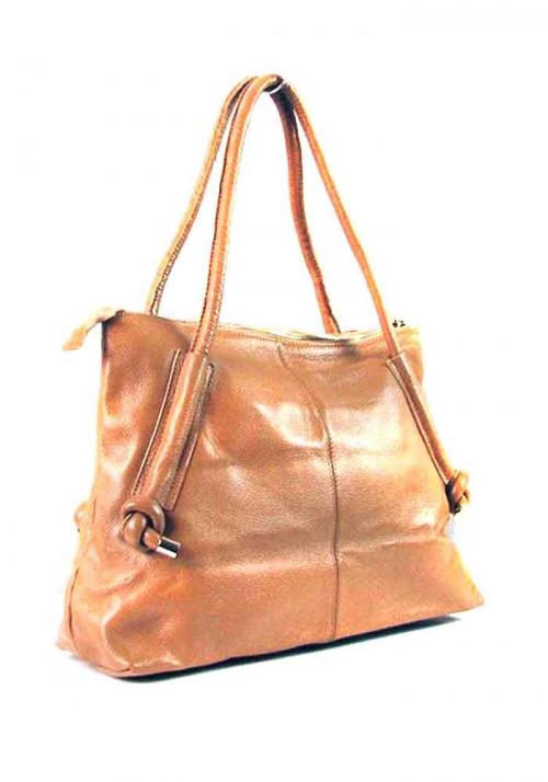 Светло-коричневая женская кожаная сумка 8003