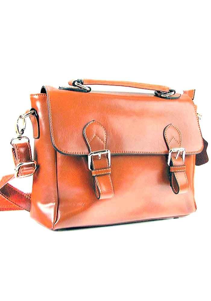 Женская кожаная сумка почтальон 8120