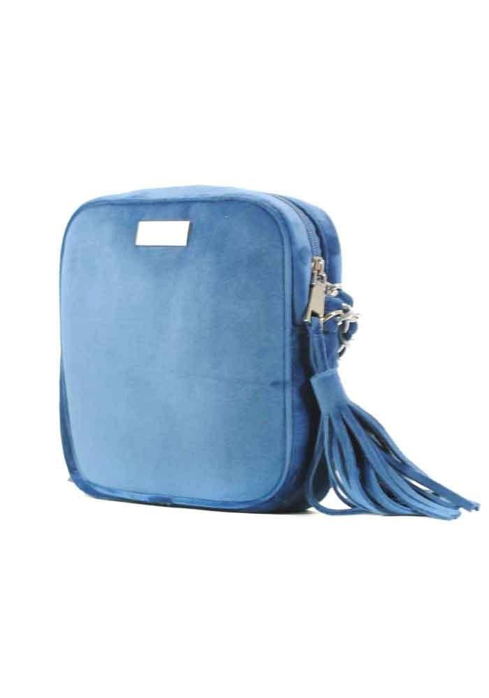 Синий женский клатч из велюра Betty Pretty
