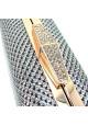 Серый женский клатч-бокс из текстиля 09829