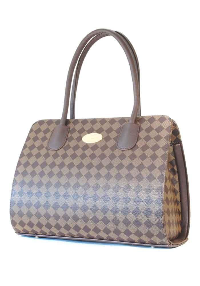 Коричневая женская каркасная сумка Betty Pretty