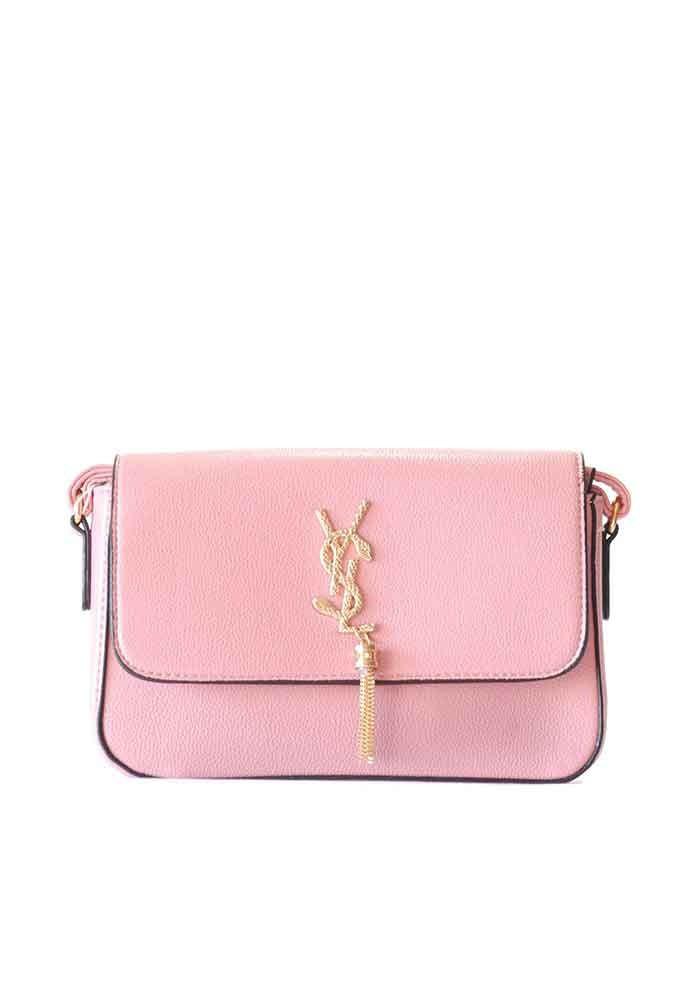 Классический розовый женский клатч