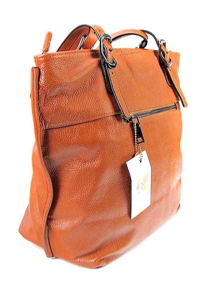 кожаные рыжие сумки и рюкзаки бренд купить