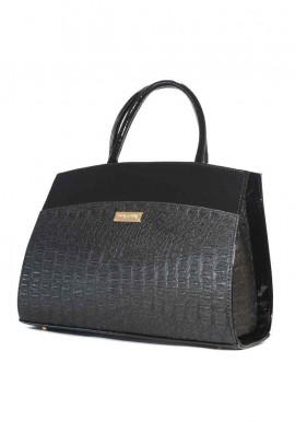 Фото Женская черная каркасная сумка с лаком Betty Pretty