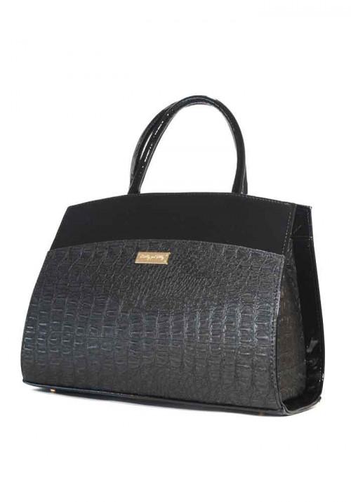 Женская черная каркасная сумка с лаком Betty Pretty