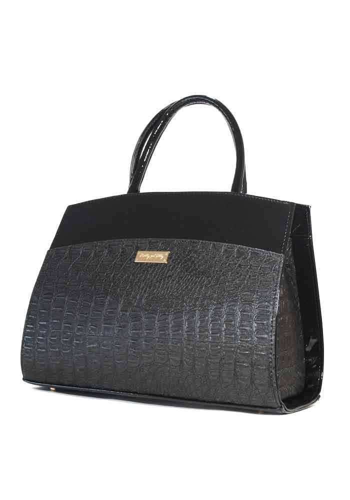 7df35852c250 Женская черная каркасная сумка с лаком Betty Pretty - купить в Киеве ...
