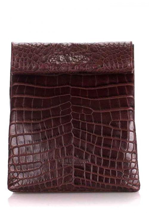 Сумка клатч женская Poolparty Aligator Lunchbox Brown
