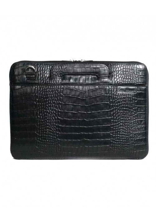 Сумка для ноутбука MacBook 13″ ISSA HARA черная рептилия