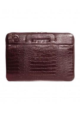 Фото Сумка для ноутбука MacBook 13″ ISSA HARA коричневая матовая