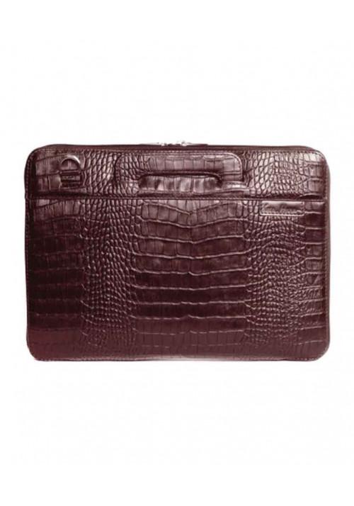 Сумка для ноутбука MacBook 13″ ISSA HARA коричневая рептилия