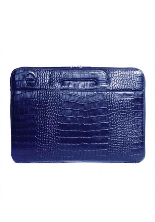Сумка для ноутбука MacBook 13″ ISSA HARA синяя рептилия
