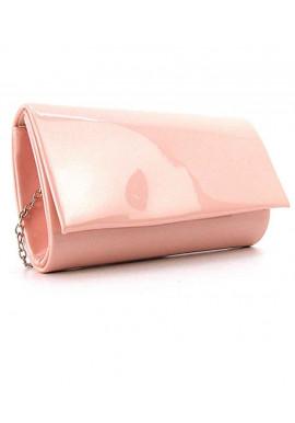Фото Розовый лаковый женский клатч