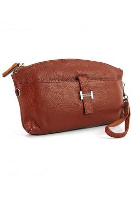 Фото Светло-коричневый кожаный женский клатч 1103