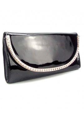 Фото Черный кожаный лаковый женский клатч Apploud 22498-L