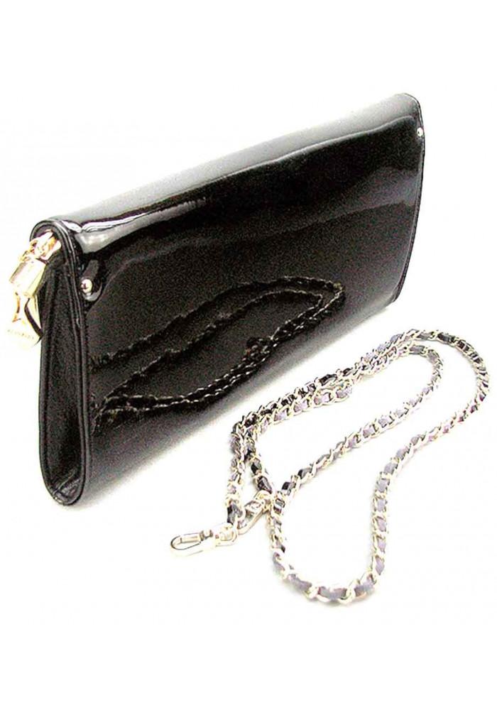 215f80e450e0 Черный кожаный лаковый женский клатч Apploud 22498-L, фото №2 - интернет  магазин ...