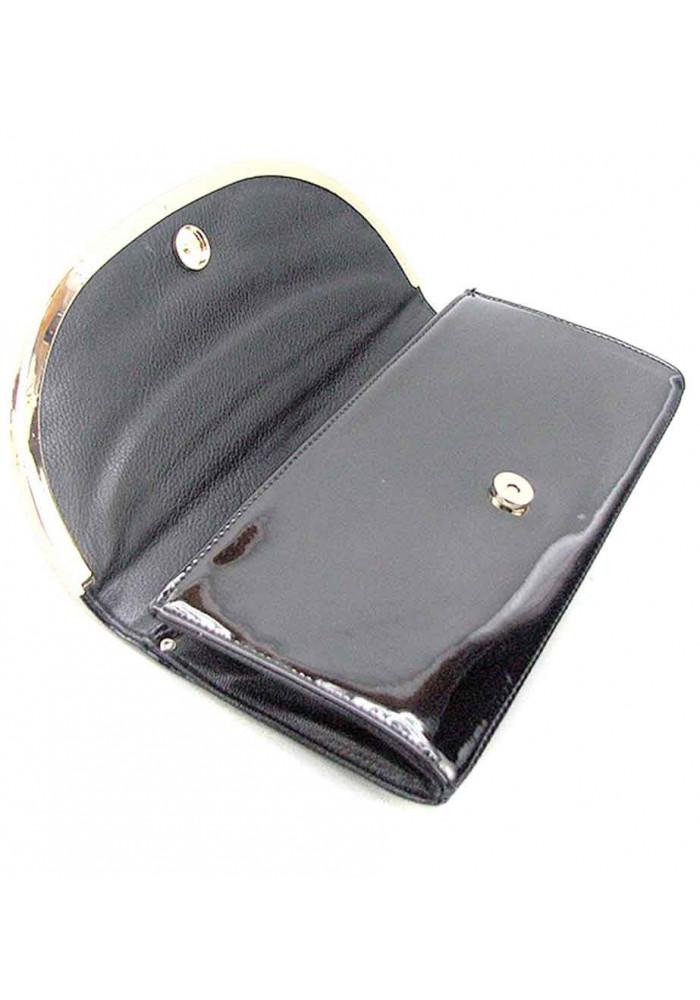 8a8bf76842c1 ... Черный кожаный лаковый женский клатч Apploud 22498-L, фото №3 -  интернет магазин ...